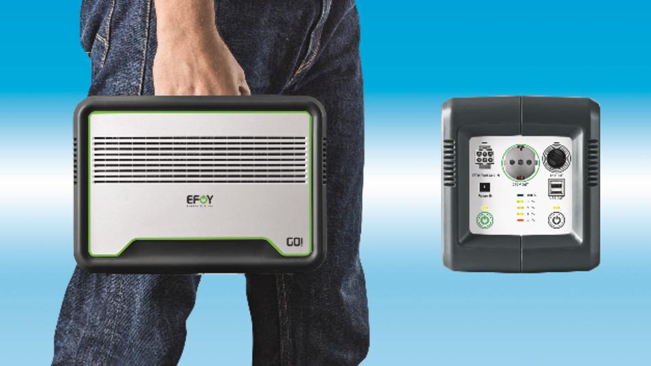 5,6 Kilogramm Kraftkoffer: Dem Efoy-Go-Kompaktakku traut Distributor Hy-Line viel zu