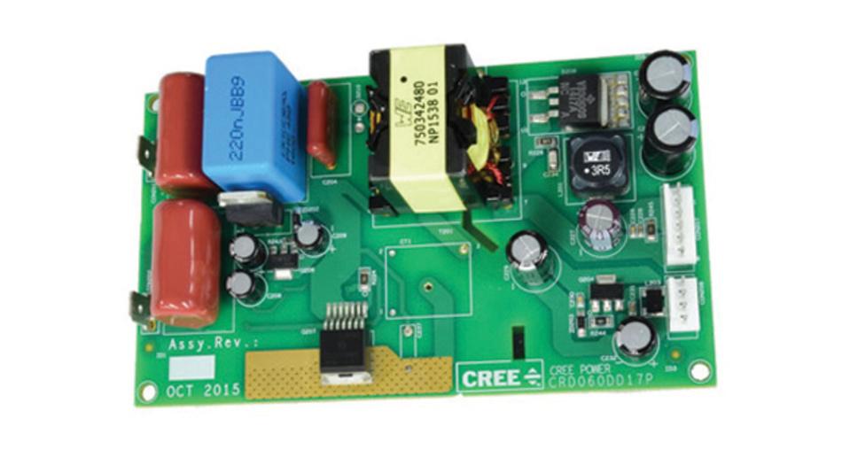 Bei Richardson RFPD ist ein Entwicklungs-Board auf Basis von Wolfspeeds 1700-V-SiC-MOSFET erhältlich.