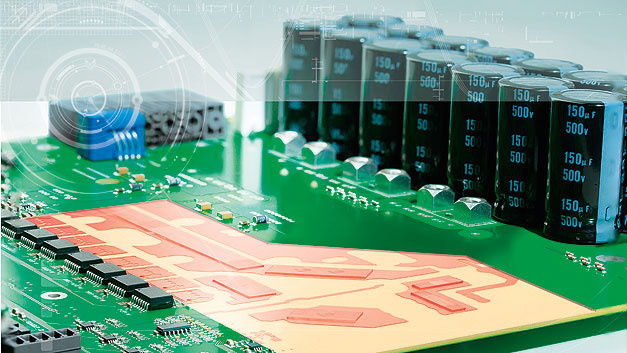 Bild 1. Hochstromleiterplatte HSMtec: Zur Veranschaulichung sind die in den Innenlagen eingebetteten Kupferprofile freigelegt.