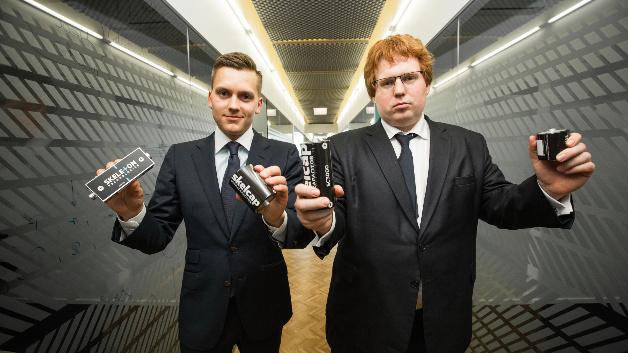 Die Köpfe und Co-Founder von Skeleton Technologies: Oliver Ahlberg (COO, links) und Taavi Madiberg (CEO, rechts).