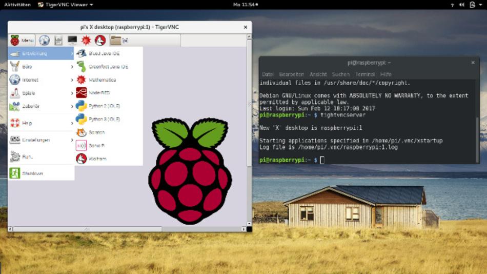 VNC- und ssh-Zugriff auf den Pi in WiFi-Router-Konfiguration.