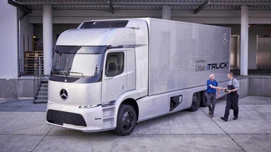 Der vollelektrische, schwere Verteiler-Lkw Mercedes-Benz Urban eTruck kommt dieses Jahr in Kleinserie auf den Markt.