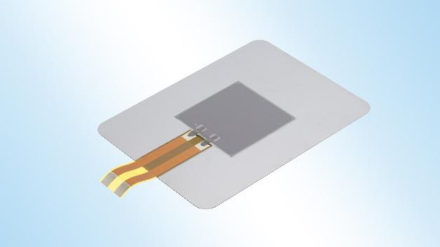 """Mit einer Dicke von 0,35 mm ist der Aktuator """"PiezoHapt"""" laut Hersteller TDK eines der weltweit dünnsten haptischen Bauelemente."""