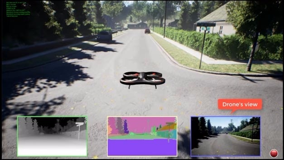 Simulierter Drohnenflug: Im Simulator von Microsoft lässt sich das Verhalten der einer Drohnensteuerung testen. Objekte, Beleuchtung und Schatten sind sehr naturgetreu nachgebildet.