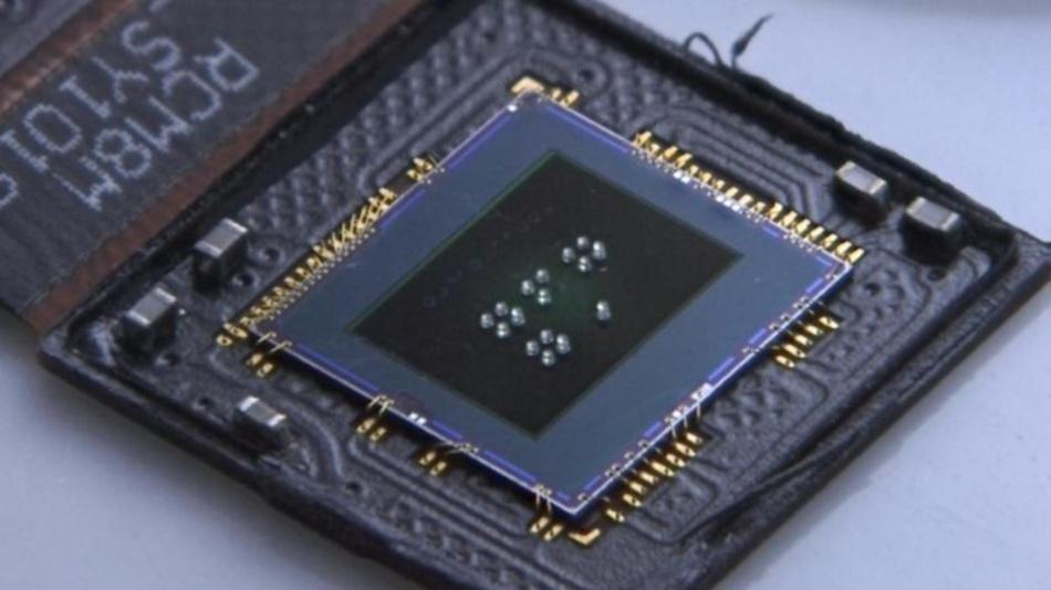 """CMOS Sensor mit jeweils vier Linsen unterschiedlicher Brennweite für das """"Foveated Imaging"""""""