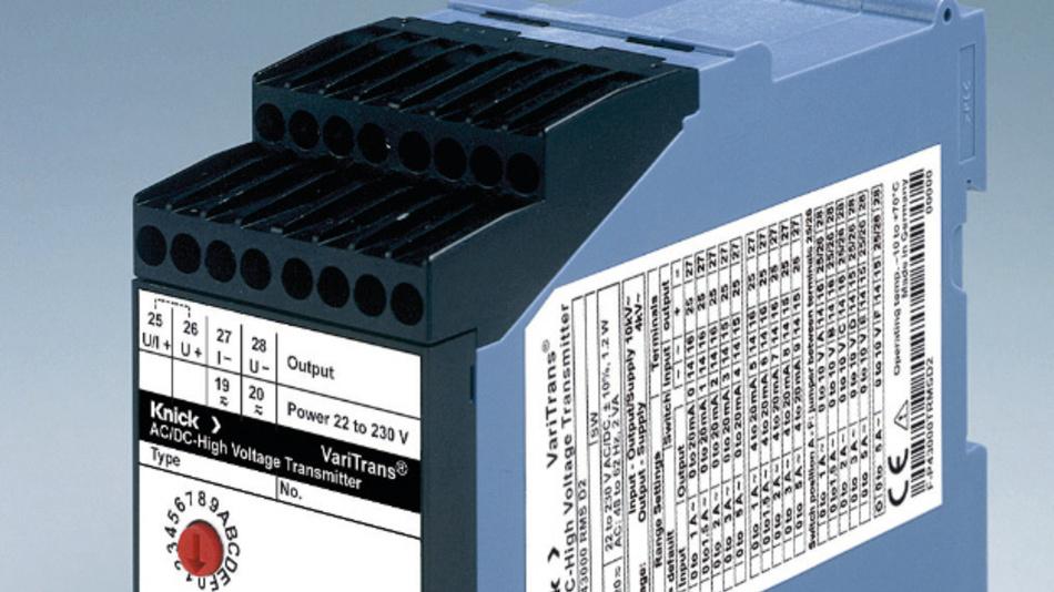 AC/DC-Hochspannungsmessumformer P 43000 TRMS von Knick