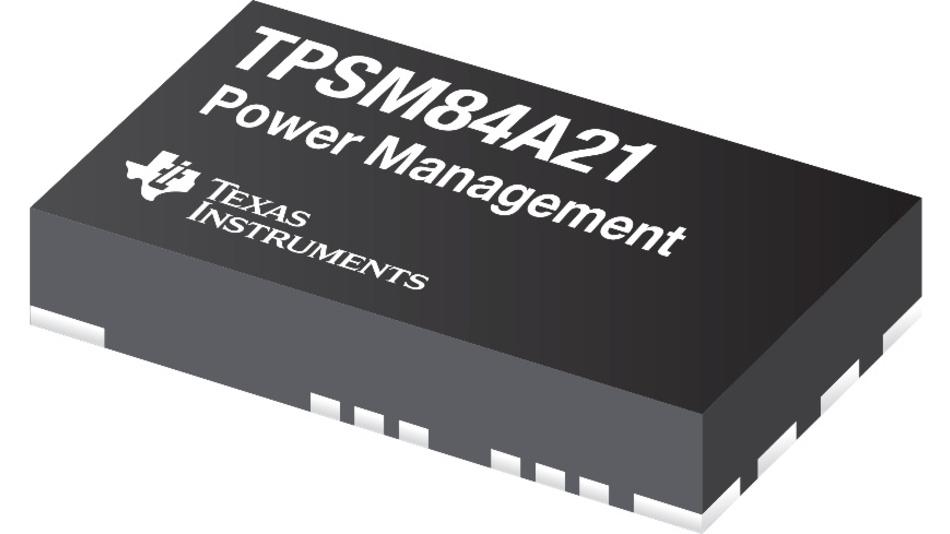 Die Stromversorgungs-Module TPSM84A21 und TPSM84A22 kommen ohne Kondensatoren aus.