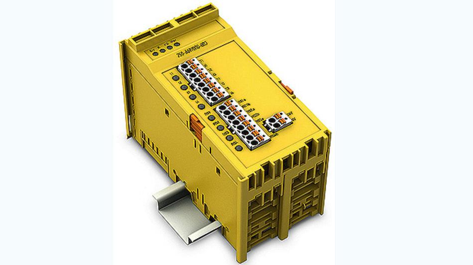 Bild 2. Das Safety-Relaismodul 750-669/000-003 enthält neben vier sicheren Relaisausgängen auch vier fehlersichere Digitaleingänge.