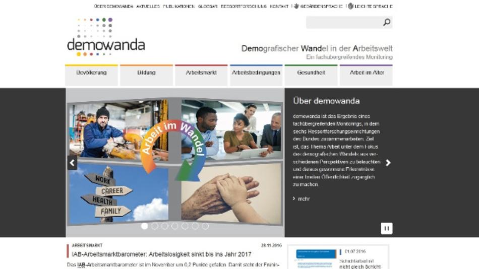demowanda informiert über den demografischen Wandel. Hierfür werden Daten herangezogen, mit denen die sechs Ressortforschungseinrichtungen des Bundes Monitoring betreiben.