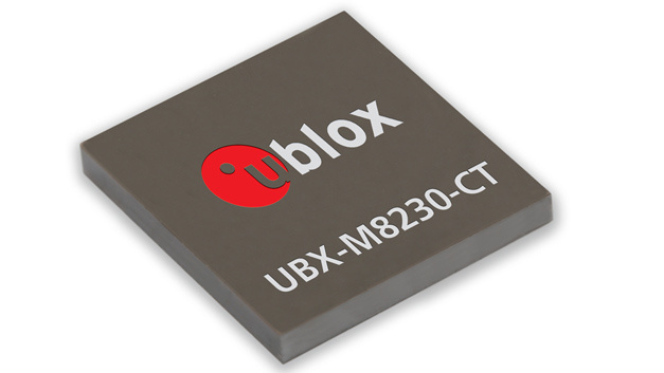 Der GNSS-Empfänger UBX-M8230-CT  von u-blox braucht im Super-Efficient-Modus weniger als 20 mW.