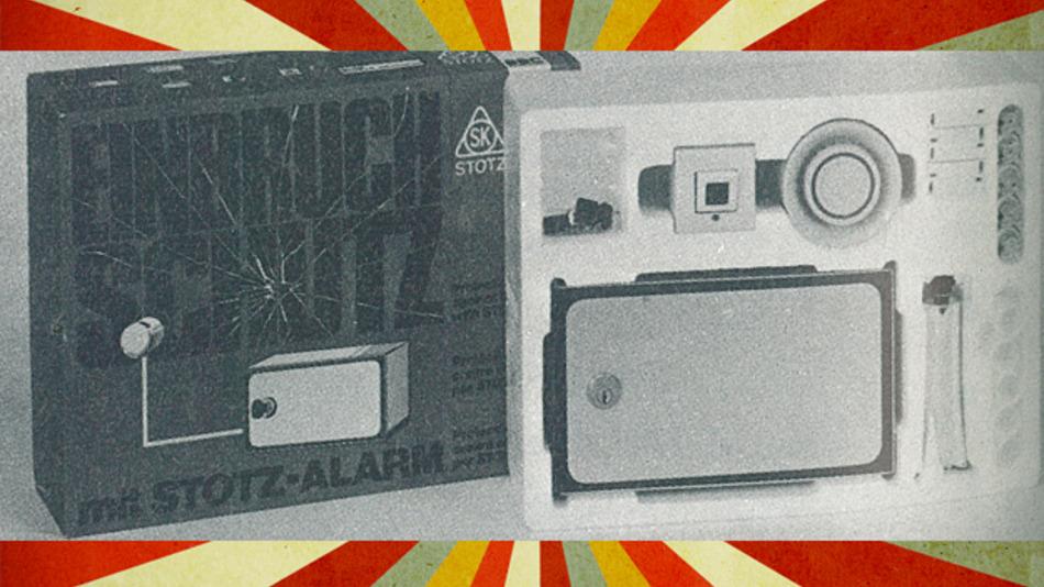 Alarmanlage in den 70ern: lückenlos ausgeführte Schleifenanlage mit Meldeleitung und Meldekontakten.