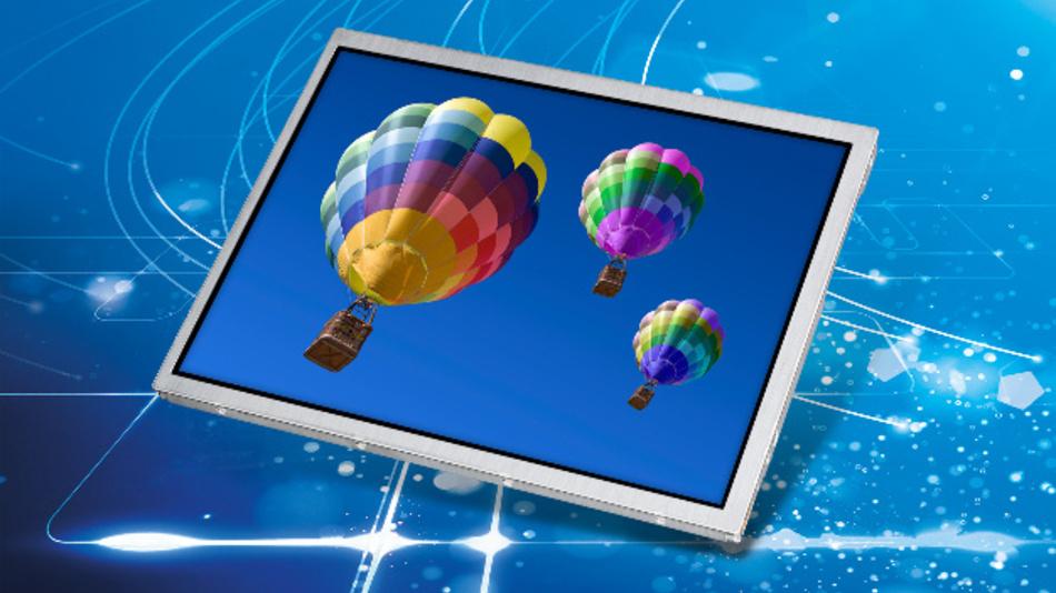 Eine Auflösung von 1024 x 768 Pixel und einen Kontrast von 1000:1 bietet Tianma NLTs 15-Zoll-TFT-Display.