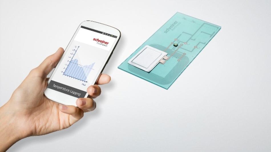 Temperatur-Auslesung via Smartphone direkt vom RFID-Label