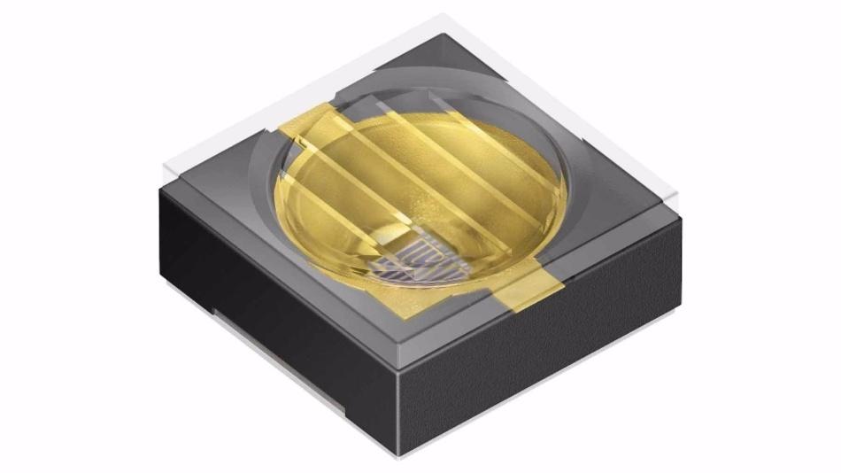Die Infrarot-LED SFH 4787S von Osram ist eine flächige Lichtquelle und vereinfacht das Auslesen des charakteristischen Iris-Musters bei der Zugangskontrolle.