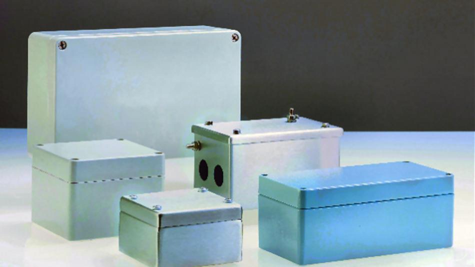 Bild 1. Standardgehäuse aus Kunststoff und Metall von Rose Systemtechnik sichern die empfindliche Elektronik der Bahntechnik.