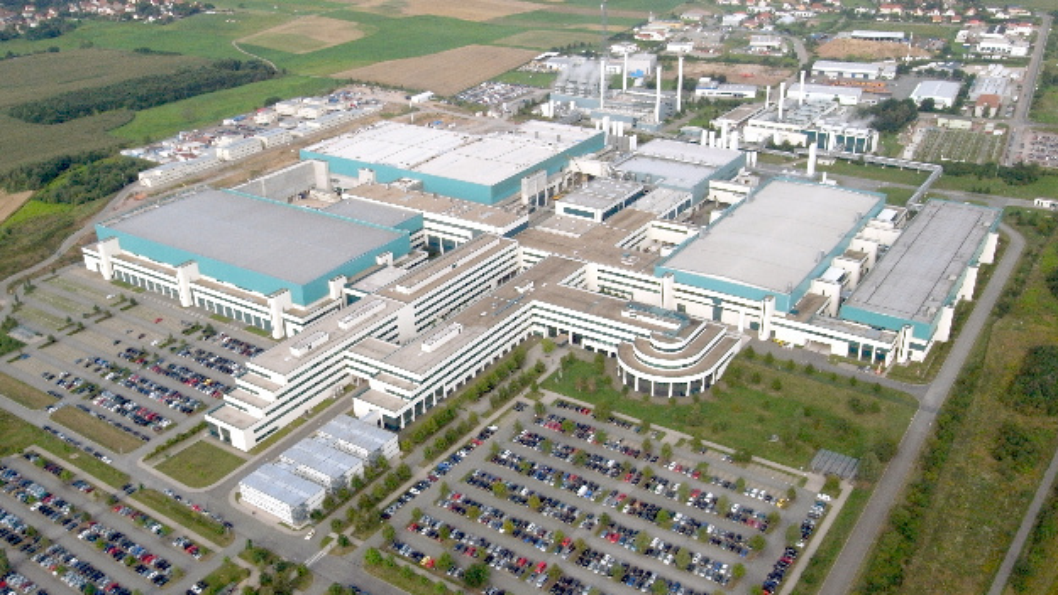 Luftaufnahme des Standortes in Dresden von Globalfoundries.