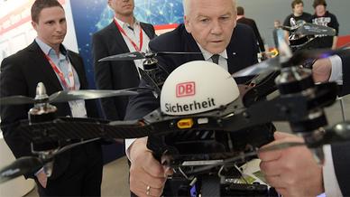 Drohne auf der Hannover Messe
