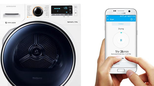 Samsung wifi fähiger trockner mit sensorsteuerung u elektroboerse