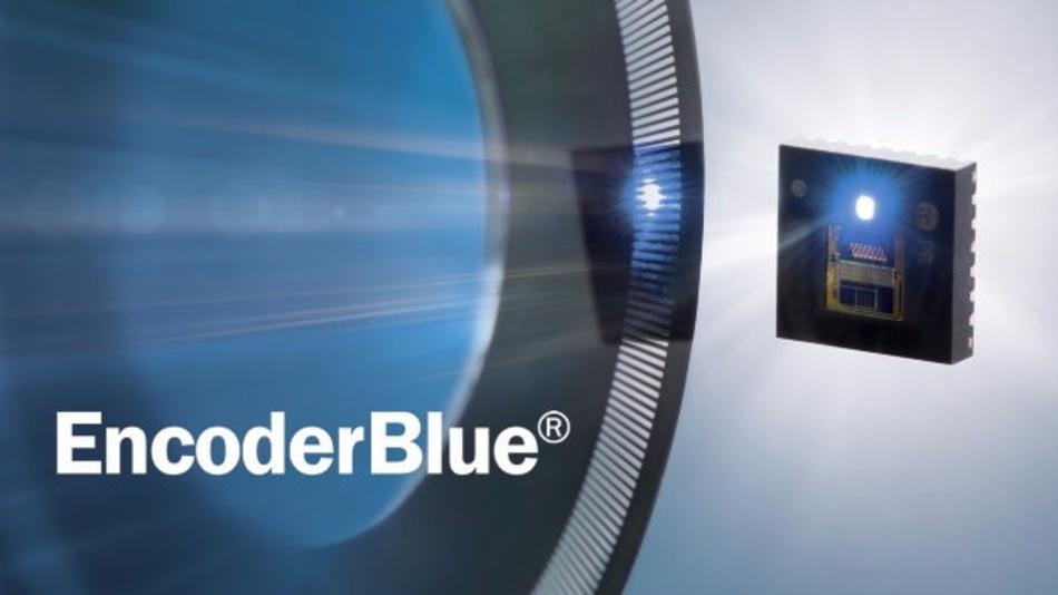 Blau, reflexiv und linsenfrei: Positionssensor EncoderBlue von iC-Haus