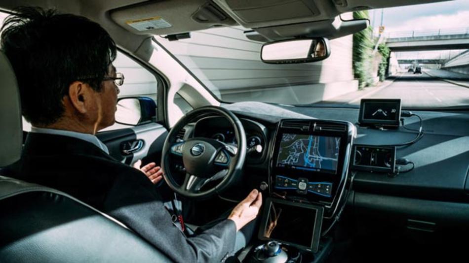 Nissan testet autonom fahrende Autos auf öffentlichen Straßen in Europa.