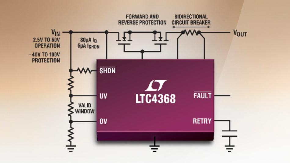 Controller für einen bidirektionalen elektronischen Schutzschalter.