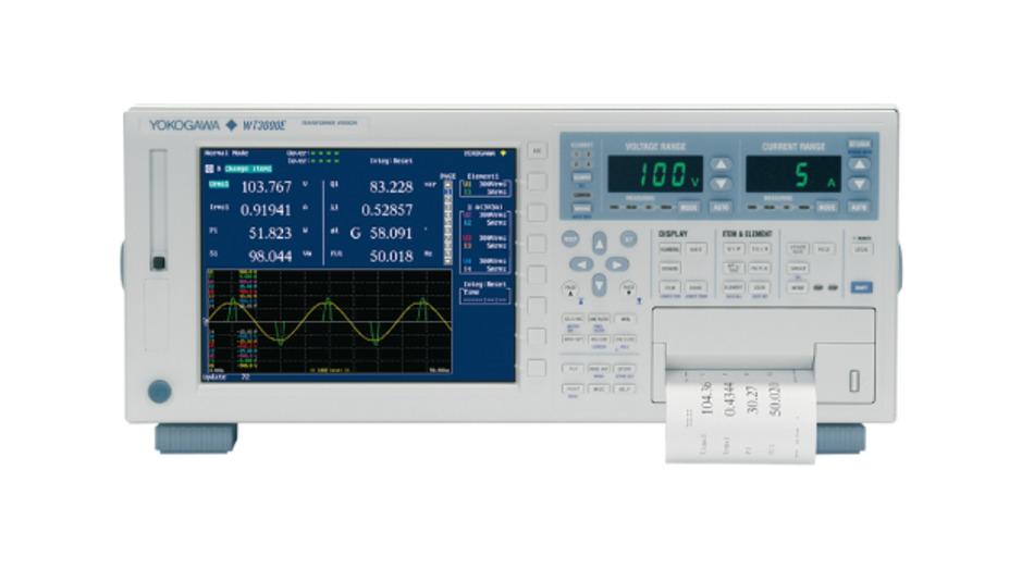 Der Yokogawa WT3000E/T kann für Verlustmessungen an Transformatoren eingesetzt werden.