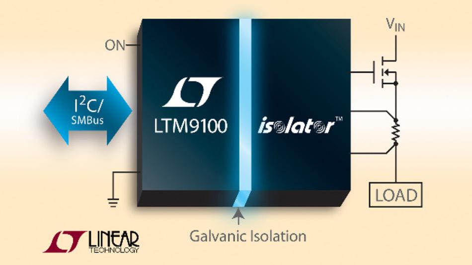 Galvanisch getrennter Schaltercontroller LTM9100 von Linear Technology mit 5 kV Isolationsspannung.