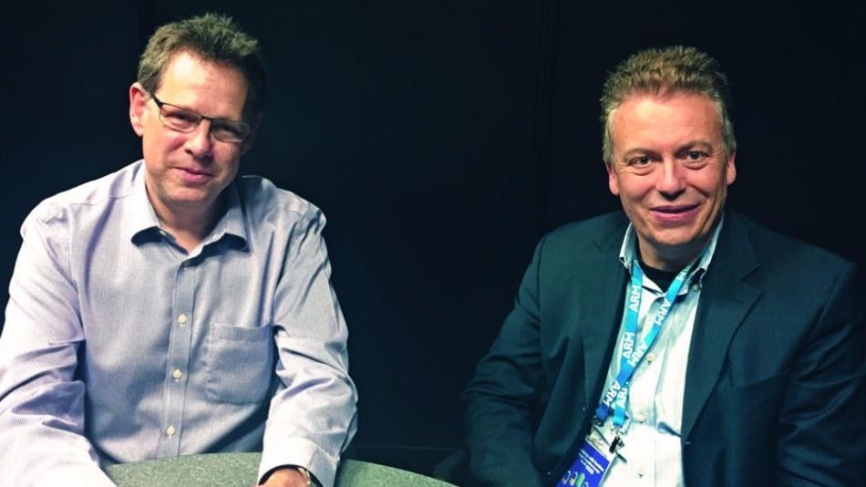 ARMs CTO Mike Muller (links) sieht für mbed Cloud großes Potential im IoT-Umfeld.