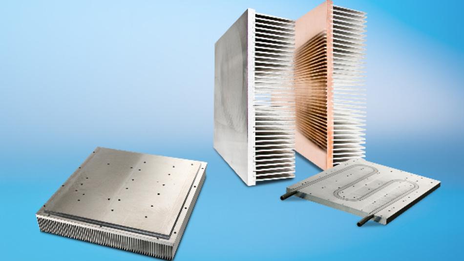 Auf der PCIM 2017 präsentiert CTX beispielsweise die Hochleistungskühlkörper der Serien SuperFins und SuperPlate.
