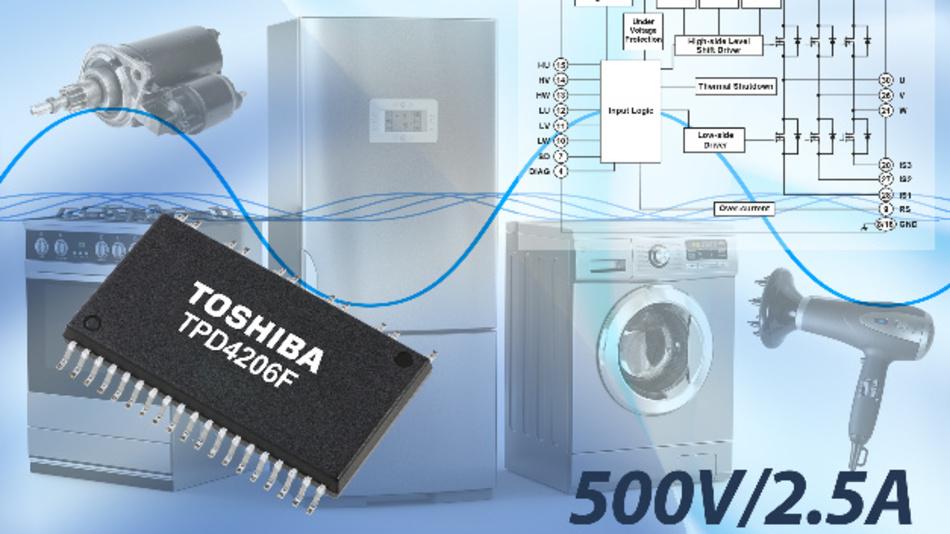 Der Multi-Chip-IC enthält sechs MOSFETs, einen Treiber-IC und verschiedene Schutzfunktionen.