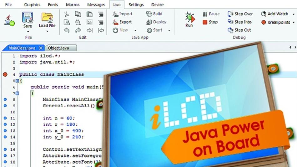 Mit der neuen Firmware ist in den iLCDs eine on-board Java VM integriert.