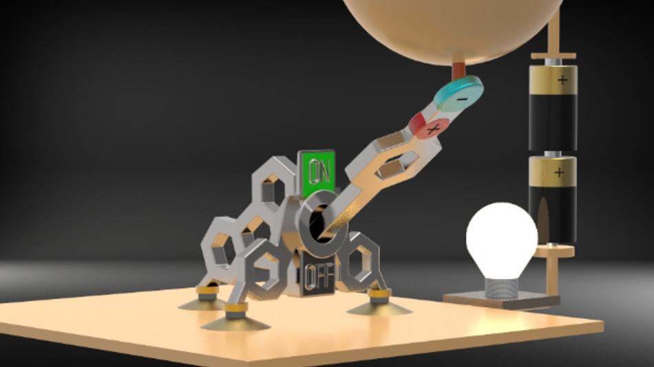 Der Schalter ist nur einen Nanometer groß.