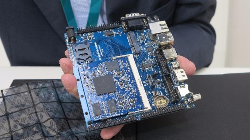 Der eigens entwickelte ARM-Cortex-M6-embedded-PC ist Teil des KasperskyOS-StarterKits.