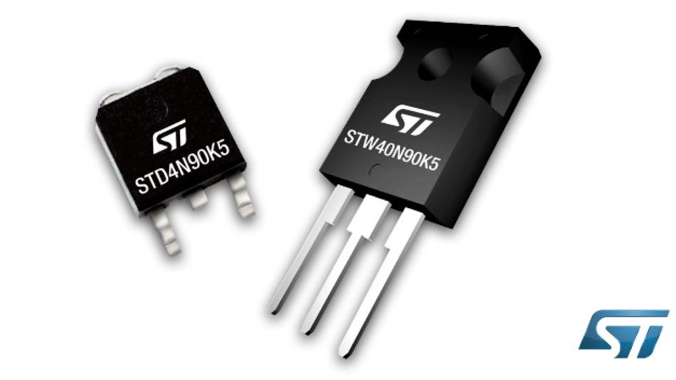Die DMesh-K5-Superjunction-MOSFET-Familie von ST wurde um 900-V-Ausführungen ergänzt.