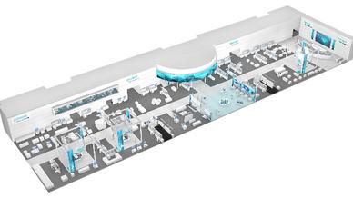 Siemens-Stand auf der Hannover Messe 2017