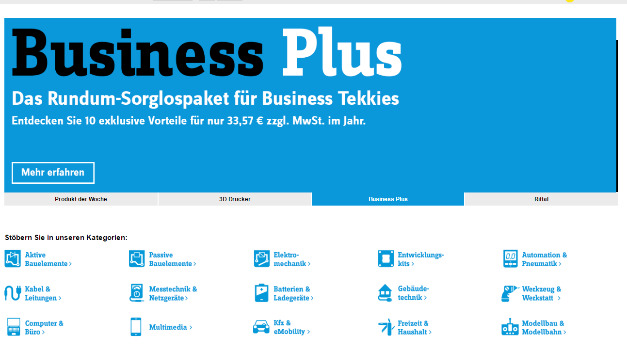 Conrad Business Supplies relauncht seinen B2B-Shop
