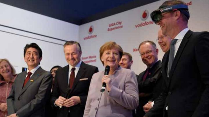 Angela Merkel auf der CeBIT