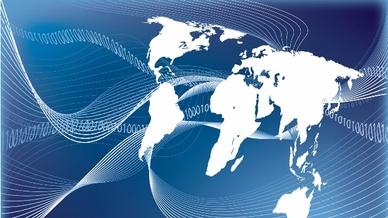 Weltkarte mit Daten