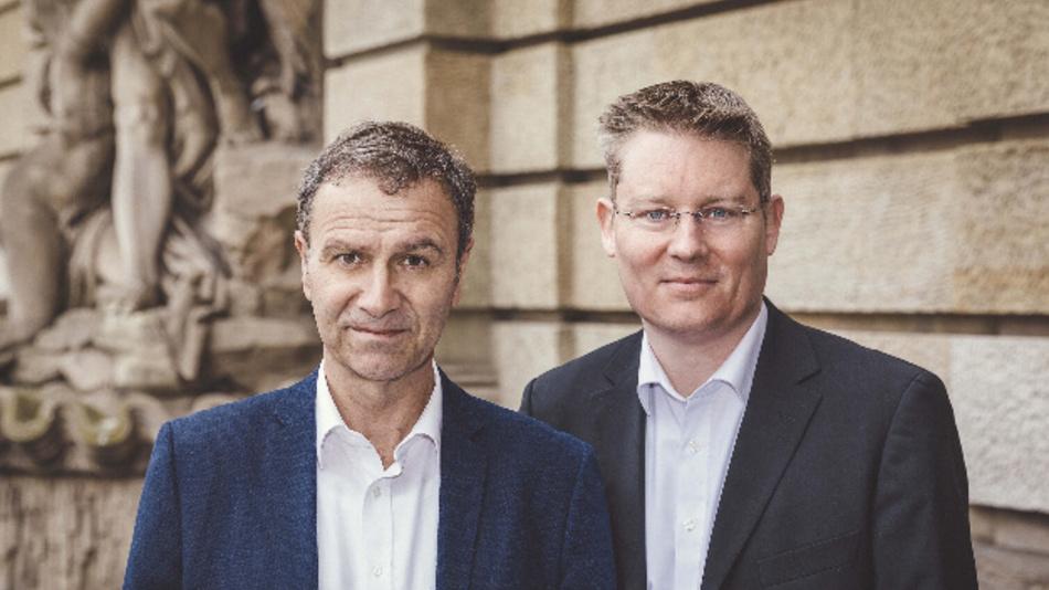 Das Gründerteam von Diversicon: Dirk Müller-Remus (l.) und René Kuhlemann.