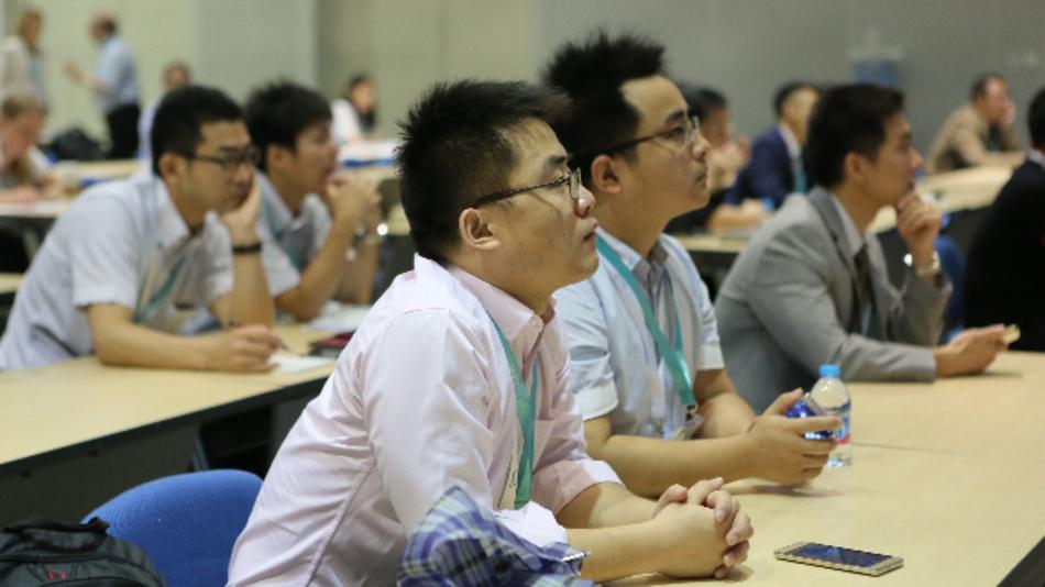 Aufmerksame Zuhörer auf der PCIM-Asia-Konferenz.