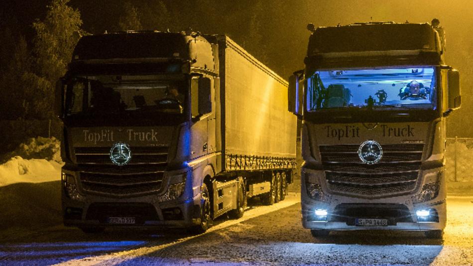 Das Modul Daylight+ bringt Licht ins Dunkel: Künstliches Tageslicht in der Fahrerkabine des TopFit-Truck erleichtert den Fahrern ihre Arbeit - besonders im Winter.