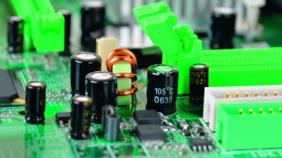 Elektrolytkondensatoren auf einer Elektronikbaugruppe