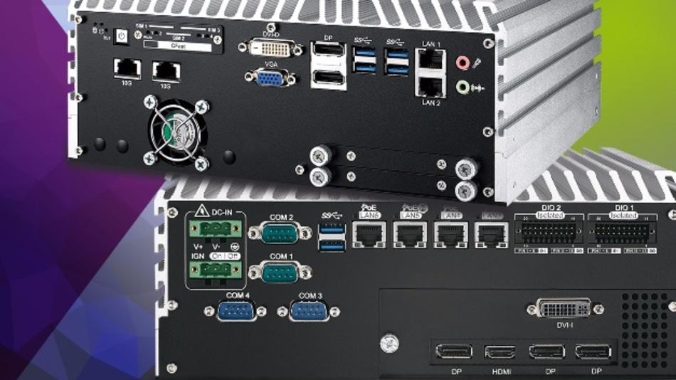 Die Box-PC-Serie BP-ECS9755-GTX950/BP-ECS9655-GTX950 adressiert Anwendungen mit sehr hohem  Rechenleistungsbedarf für den industriellen Einsatz.