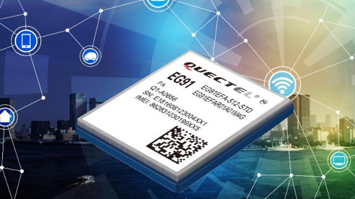 Das neue LTE-Cat-1-Modul von Quectel ist für anspruchsvolle M2M- und IoT Anwendungen ausgelegt