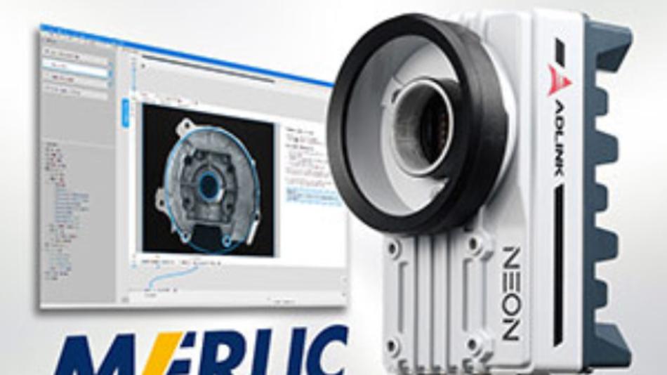 Adlinks Smart Camera »Neon-1021« ist jetzt als sofort einsatzfähiges Kombipaket »Neon-1021-M« zusammen mit der Bildverarbeitungs-Software »Merlic« von MVTec zu haben.