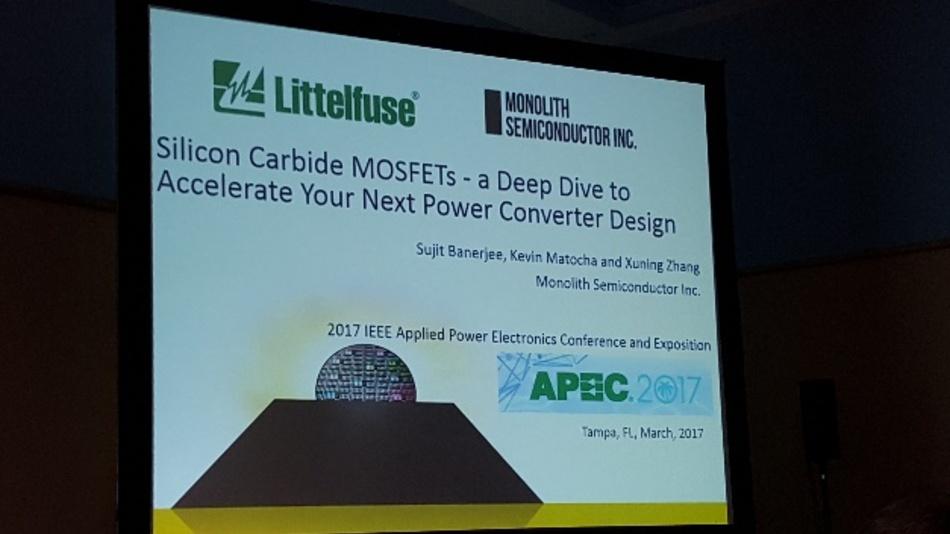 Tief eingetaucht ist Monolith Semiconductor bei seinem Intensivseminar zu Silizimkarbid auf der APEC 2017