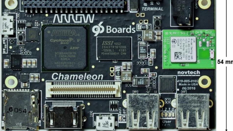 Das »Chameleon96« enthält ein Intel-Cyclone-V-SoC-FPGA.
