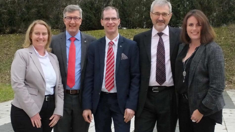 Die neue Vorstandschaft der COG (v.l.n.r.): Stefanie Laufenberg-van Rickelen, Dr. Wolfgang Heinbach, Axel Wagner, Matthias Kohls und Anke Bartel
