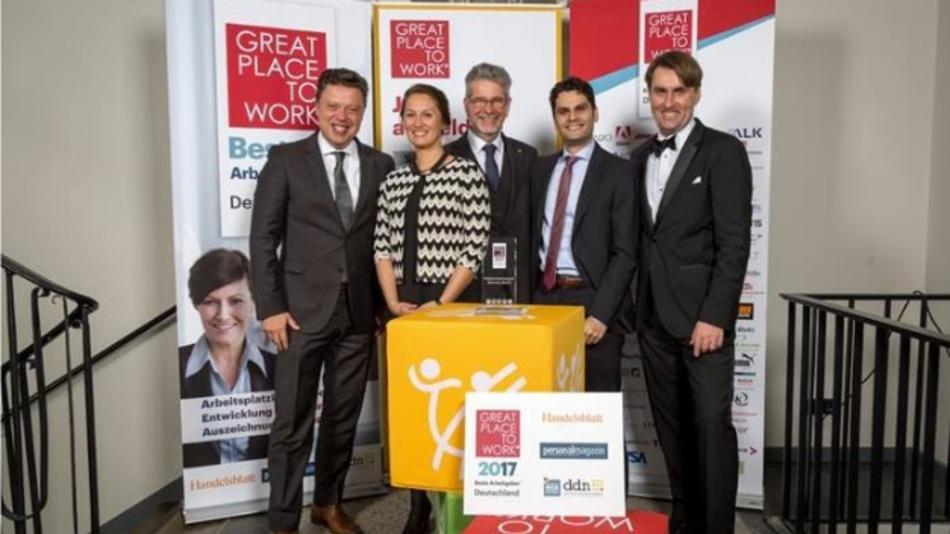 NI ist wurde auch 2017 von 'Great Place to Work' ausgezeichnet.