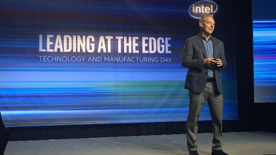 Intels Executive VP Stacy Smith eröffnete den Manufacturing Day 2017 in San Franscisco.